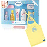 Johnson's Baby Care Collection with Organic Cotton Baby T-Shirt Gift Set (7 Pieces)