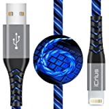 iPhone Charger, iCrius Apple MFi Certified 6FT Lightning Cable Led Light Up USB Fast Charging Cord Compatible with…