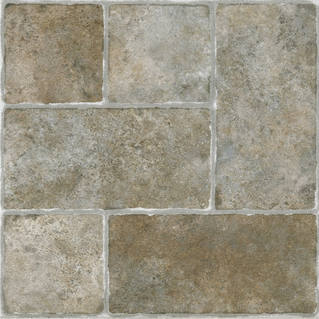 Achim STCTS70120 Sterling Self Adhesive Vinyl Floor Tile, 12'' x 12'', Cottage Stone
