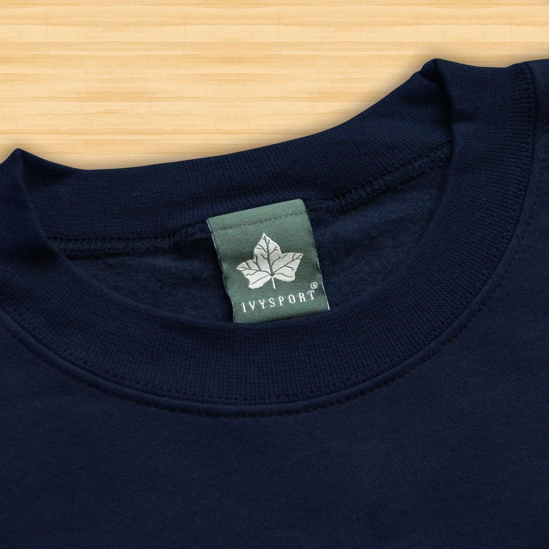 Athletic Arch Logo NCAA Colleges Ivysport Crewneck Sweatshirt Premium Heavyweight