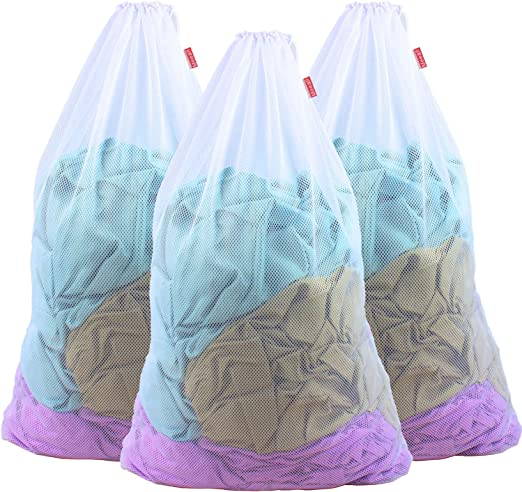 Mesh Laundry Bag 28 in x 24 In Great For College Dorm Blue /& Green