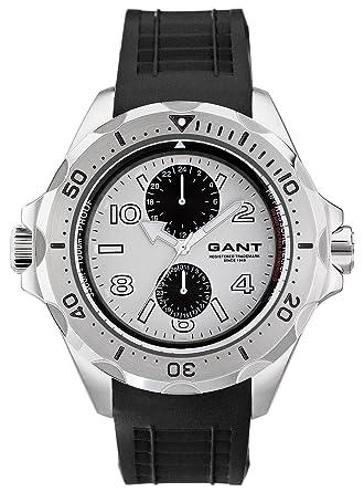 GANT Ocean-Grove W10614 - Reloj de Caballero de Cuarzo, Correa de Goma Color Negro: Amazon.es: Relojes