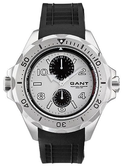 GANT Ocean-Grove W10614 - Reloj de caballero de cuarzo, correa de goma color