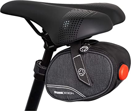 Waterproof Bike Saddle Bag With Rechargeable TailLight Bicycle Seat Bag//Storage Pack