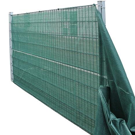 TOP MULTI 21715ga1828-0005 Tennis-Sichtschutz grün 1,40m x 10m, Zaun-Blende reißfest, UV-resistent, wetterfest