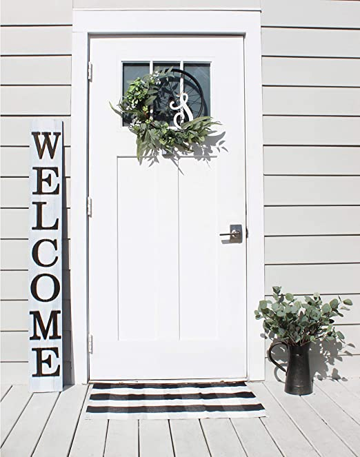 Rustic Wood Sign FLOWER MARKET  Home Decor Farmhouse Kitchen Bathroom Welcome