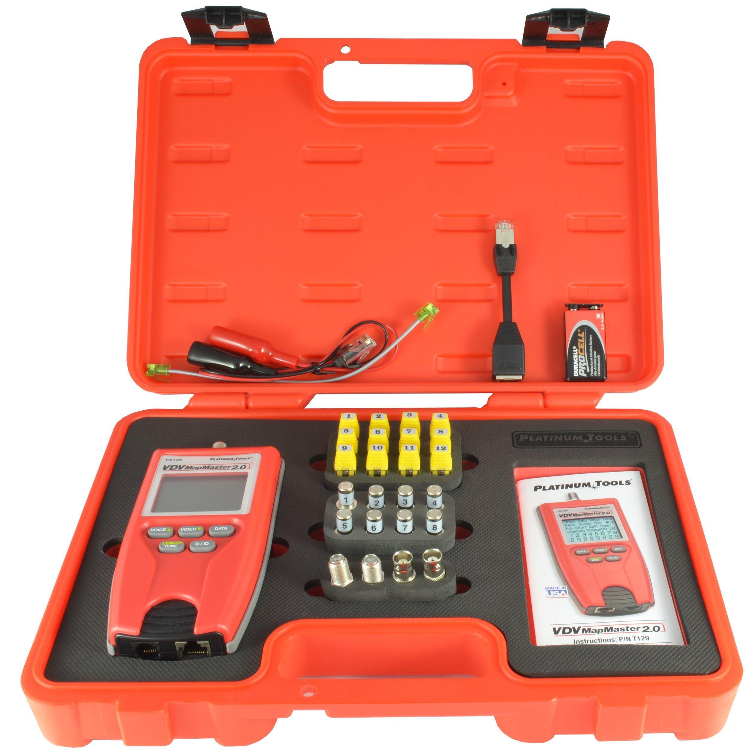 Platinum Tools T129K1 Vdv Mapmaster 2.0 Tester Kit. Box.