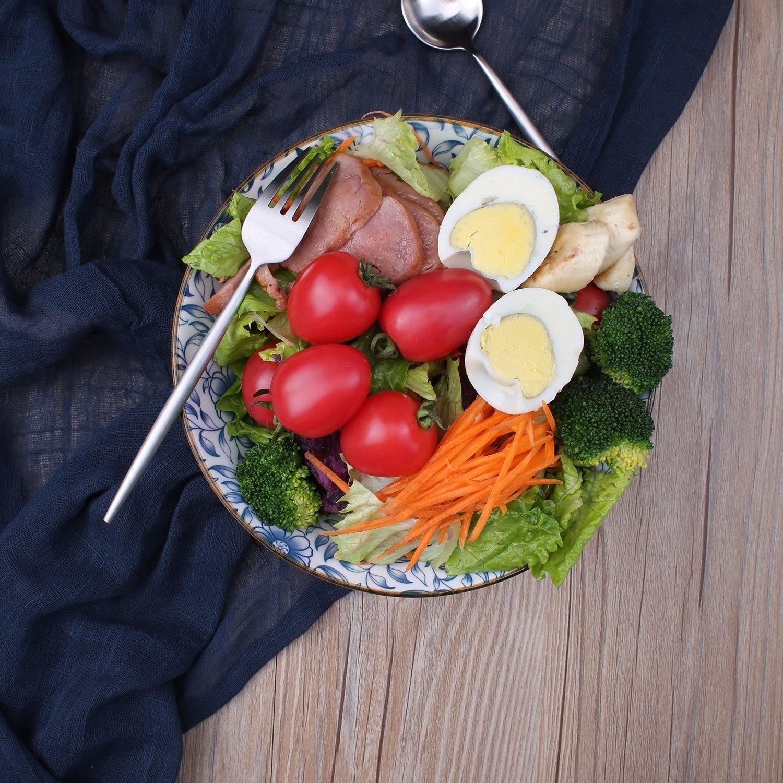 40-Ounce Porcelain Soup,Salad,Pasta Serving Bowls, Assorted Floral Patterns, Stackable Deep Bowl Set of 4 by YALONG (Image #9)
