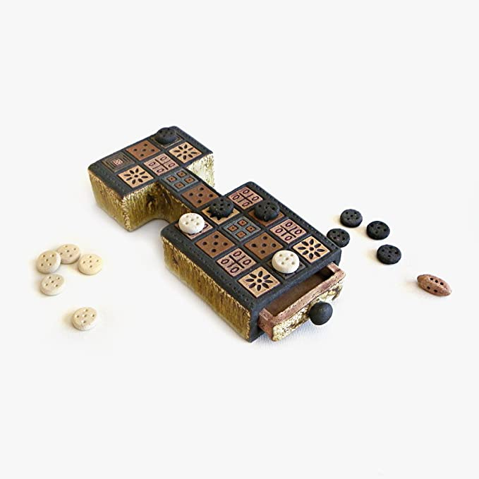 Juego real de Ur antiguo juego de cerámica decorativa hecha a mano: Amazon.es: Hogar