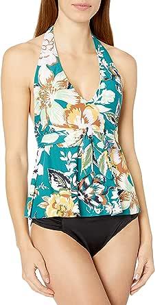 Anne Cole Studio Women's Plunge Halter Wrap Tankini Swim Top