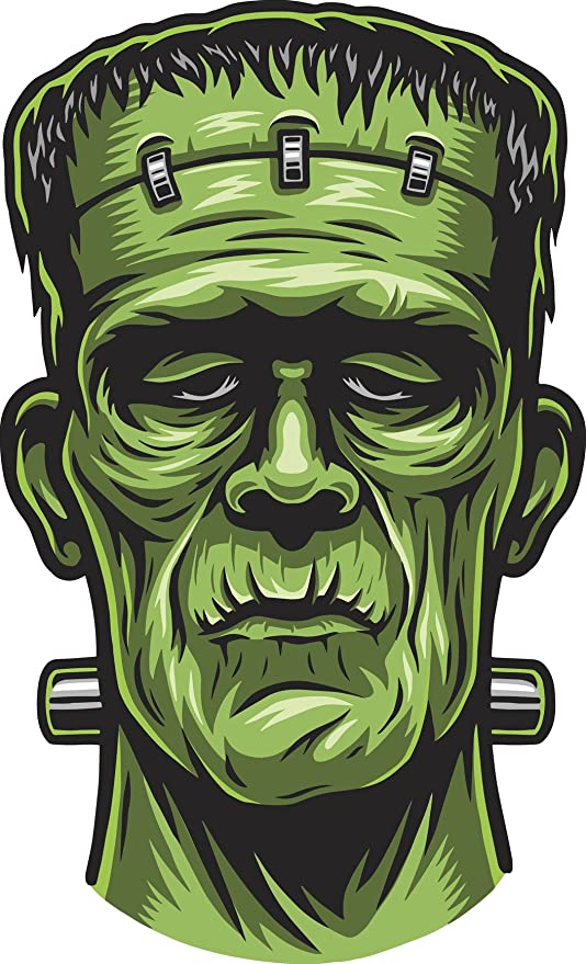 Amazon.com Scary Halloween Undead Green Frankenstein Head