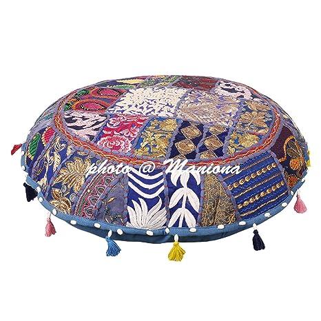 Amazon.com: Étnico algodón indio almohada de piso Vintage ...
