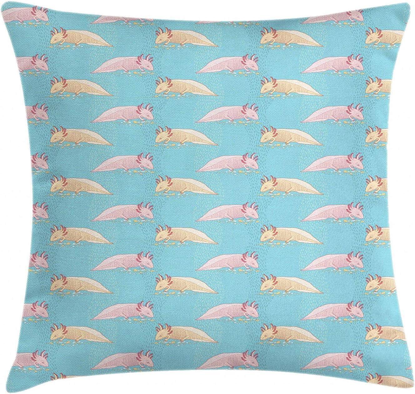Axolotl Throw Pillow Cushion Cover