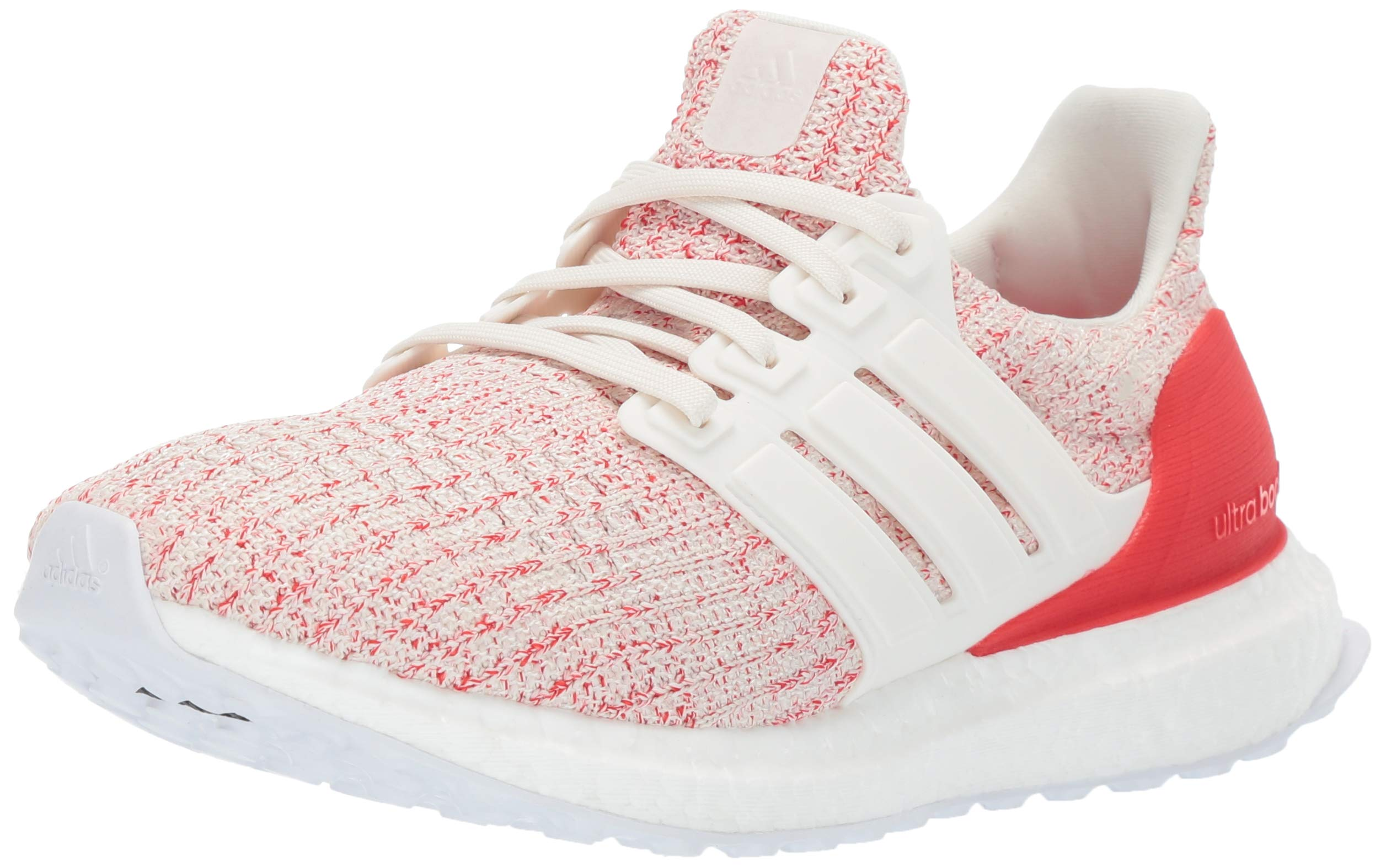 adidas Unisex Ultraboost, Chalk White/Active red, 5 M US Big Kid by adidas