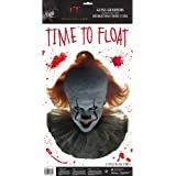 Amscan It Chapter 2, Pennywise Face, Bloody Party Glass Stickers, 5 Pc, 670942