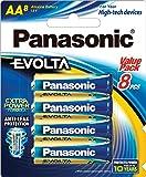 Panasonic Evolta AA Batteries, (LR6EG/8B)