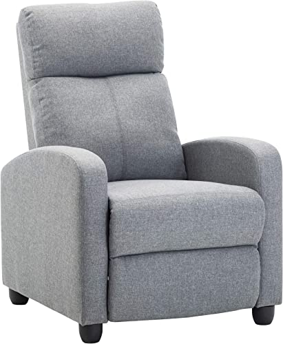 LSSBOUGHT Fabric Recliner Chair Adjustable Home Theater Single Recliner Sofa