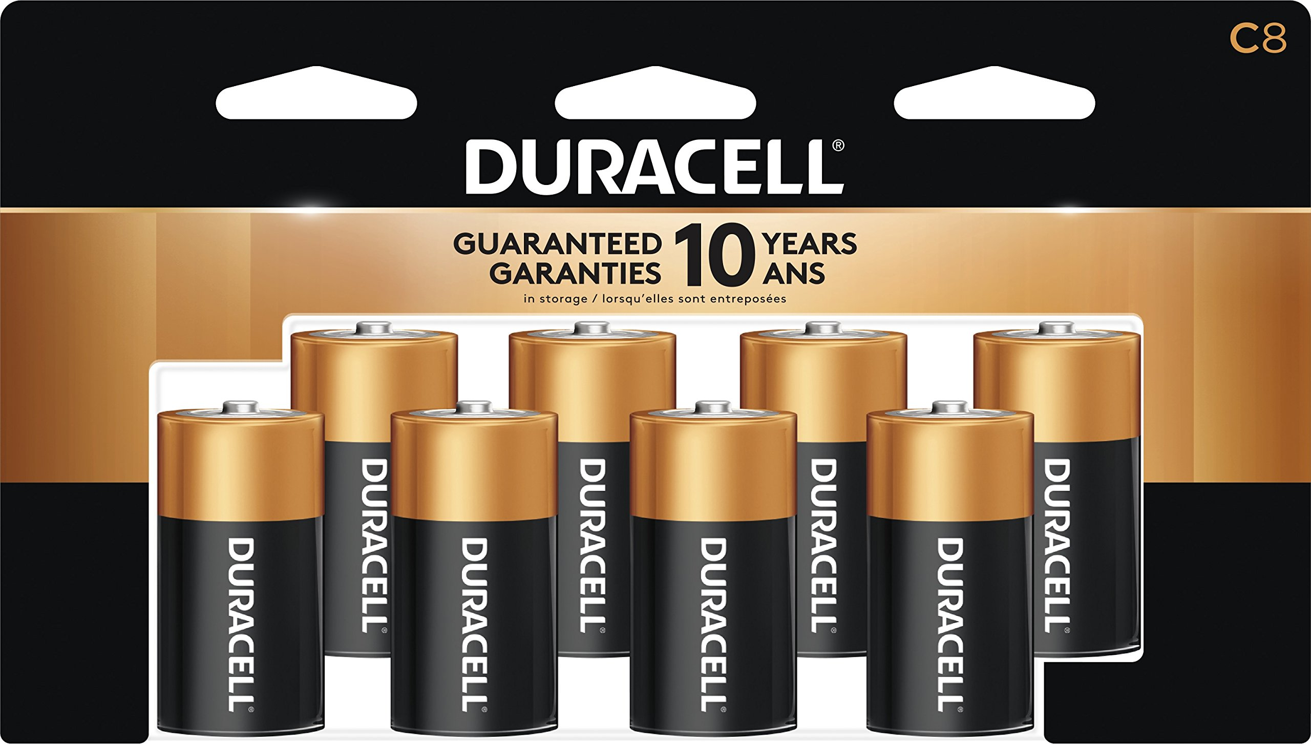 Duracell Coppertop C Alkaline Batteries, 8 ct