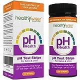 healthywiser PH-Teststreifen, genaue Ergebnisse in 15Sekunden + Alkaline Food Diagramm PDF + 21Alkaline Rezepte eBook–150ct pro Barrel
