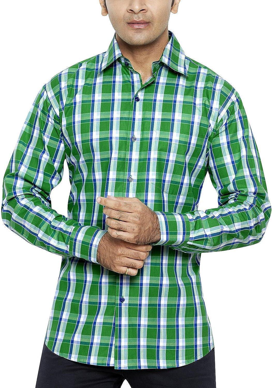 Franco Romano - Camisa casual - Paisley - Manga Larga - para hombre verde X-Large: Amazon.es: Ropa y accesorios
