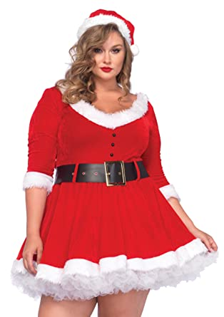 Sexy plus size mrs claus