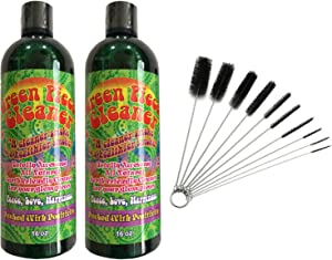 2 Bottles of 16 oz Green Piece Cleaner with 1 of The Pipe Cleaners (10 pcs)