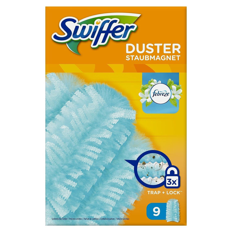 Swiffer –  Piumini Piumino con il profumo fresco di Febreze Rugiada del Mattino –  9 ricariche 400056