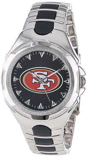 Game Time NFL-VIC-SF - Reloj de Pulsera Hombre, Acero Inoxidable: Amazon.es: Relojes