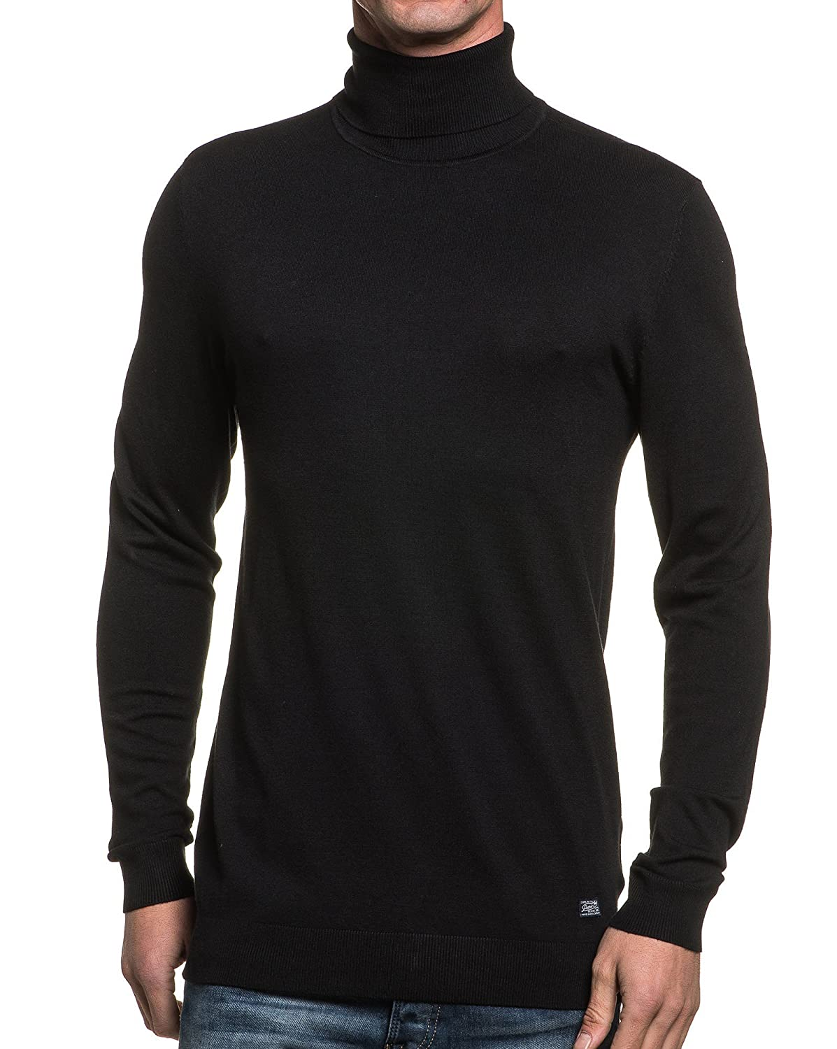 Petrol Industries - basic black turtleneck sweater man