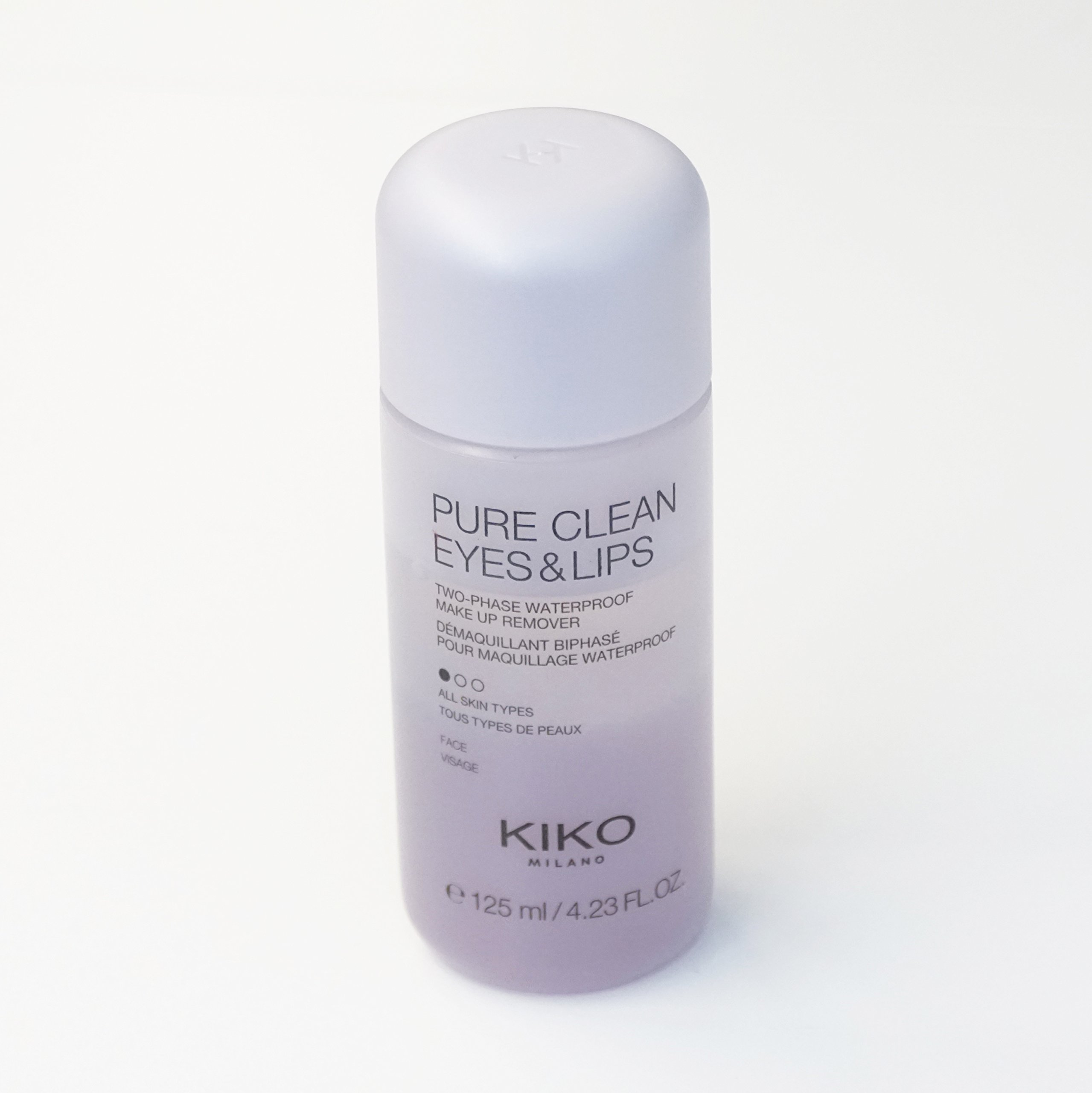 KIKO MILANO - Pure Clean Eyes & Lips Two-phase makeup remover for eyes and lips. 125 ml / 4.22 Ozl