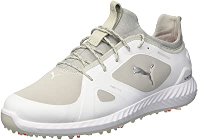 c064f5a5cde PUMA Golf Men s Ignite Pwradapt Golf Shoe White Gray Violet 7 ...