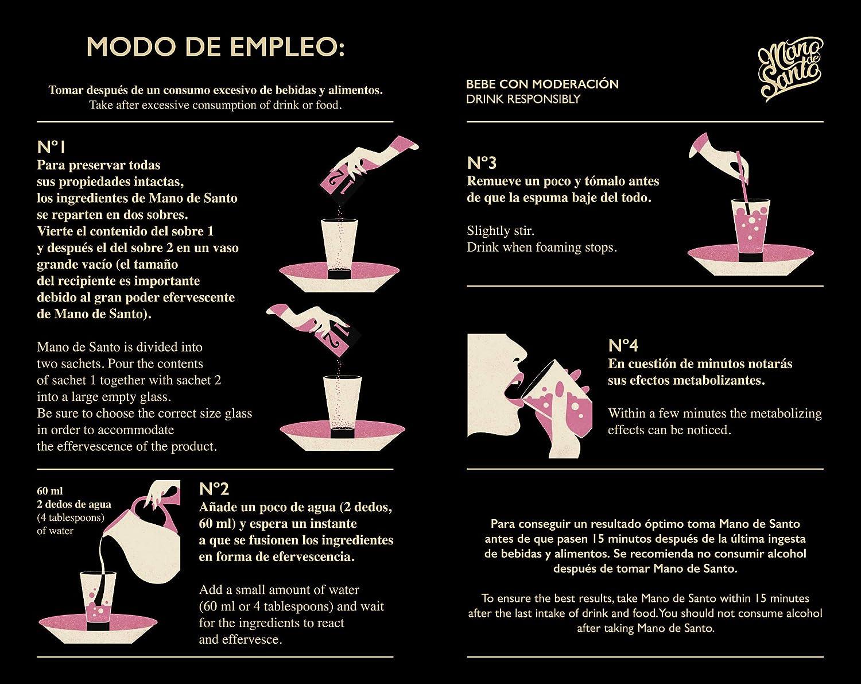 Drink Eraser Mano de Santo - Welcome Pack con 4 dosis efervescentes: Amazon.es: Salud y cuidado personal