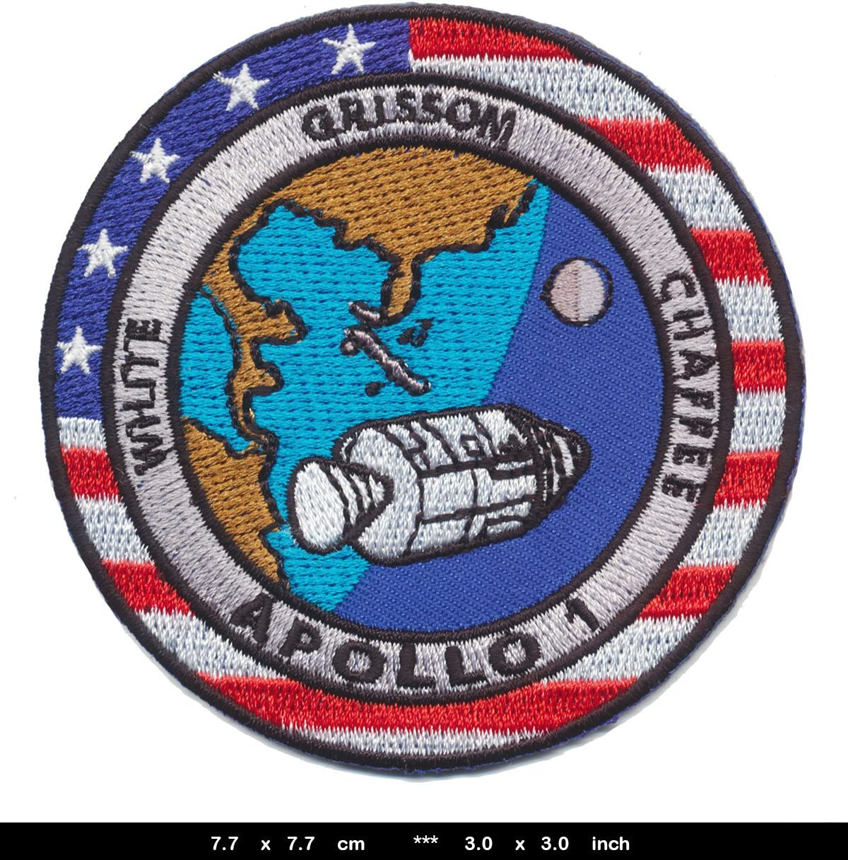 Nasa Apollo 1 Patches Aufn/äher Raumfahrt White Grissom Shaffee USA 1966//67