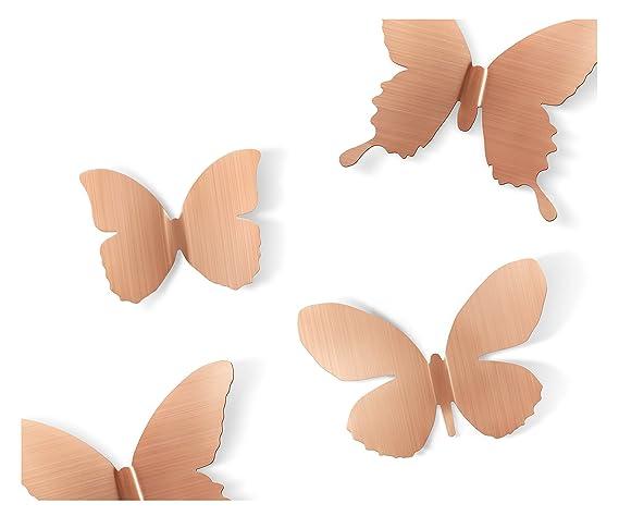 Umbra Mariposa Metal Wall Decor, Copper, Set Of 9 by Umbra