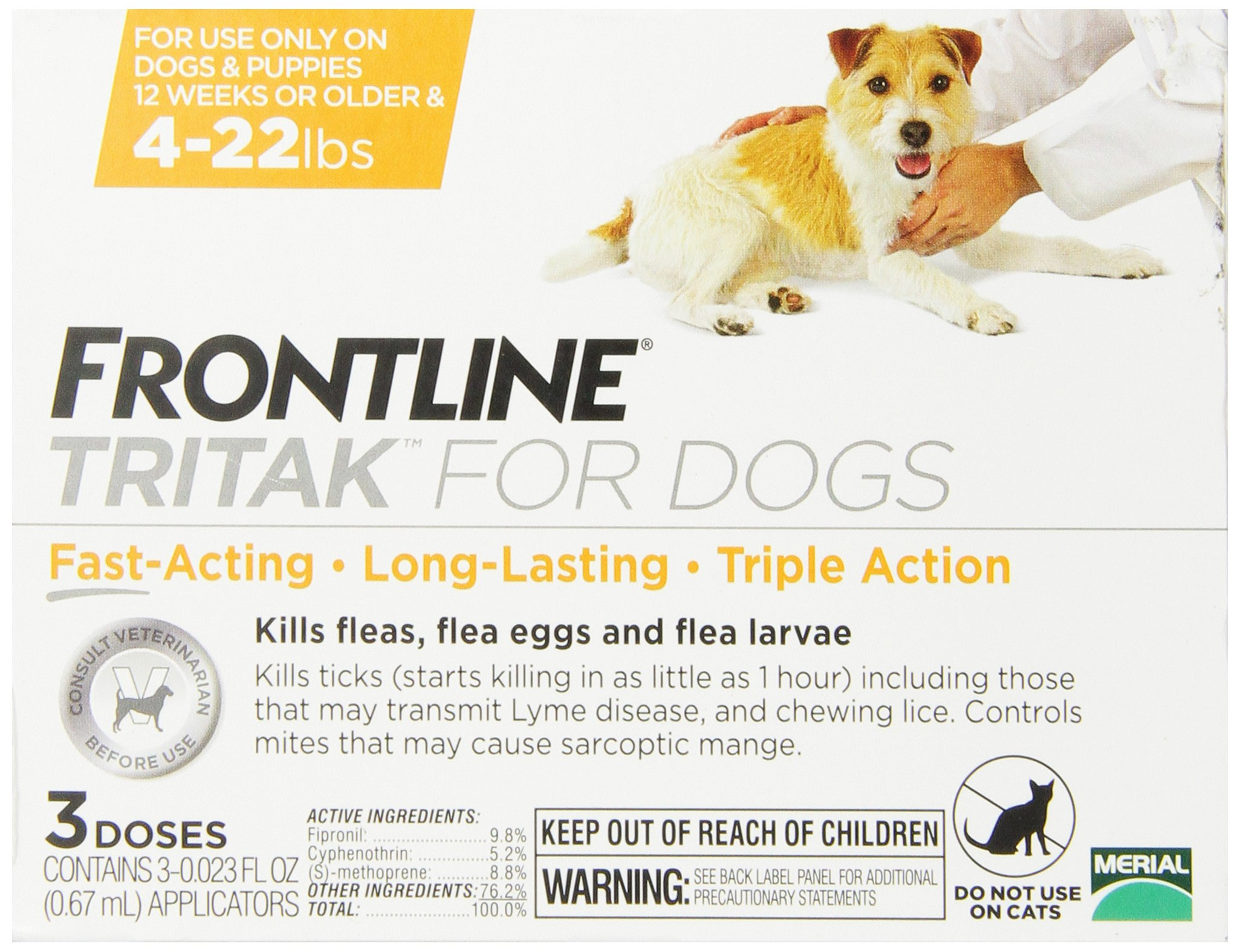 Merial Frontline Tritak Pest Control for Dogs and Puppies, 4 to 22-Pound by Merial