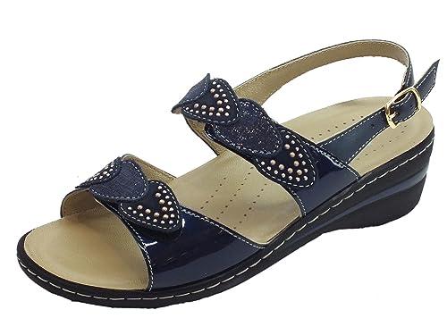 Sandali blu con allacciatura elasticizzata per unisex 7geXcozm