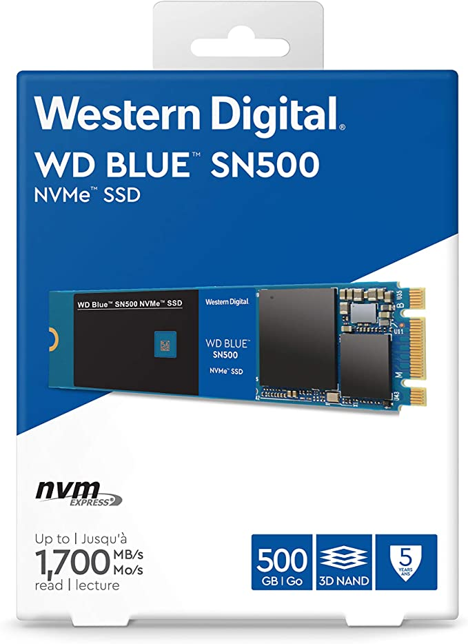Wd Blue Sn500 Nvme Ssd M 2 Read Speed Up To 1700mb Computers Accessories