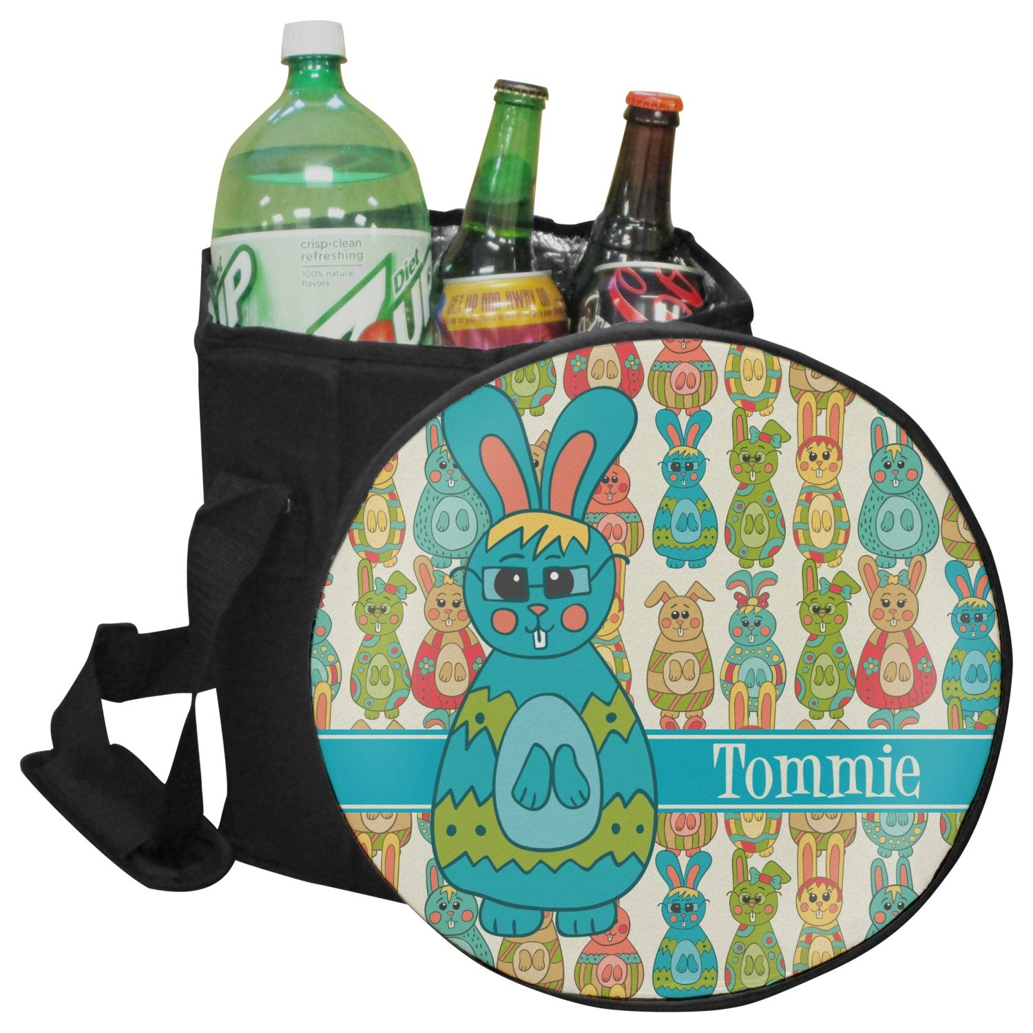 RNK Shops Fun Easter Bunnies Collapsible Cooler & Seat (Personalized)