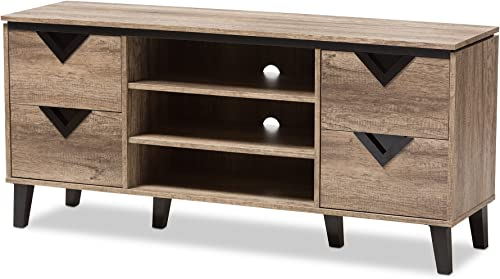 Baxton Studio Chanelle Modern and Contemporary Wood 55″ TV Stand