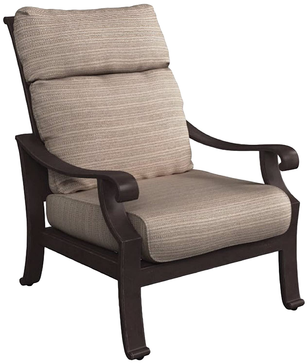Ashley Furniture Signature Design – Chestnut Ridge Outdoor Lounge Chair with Cushion – Brown