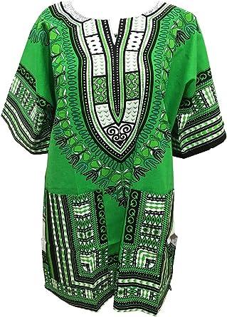 Nueva tradicional africano Dashiki Camisa africana ropa para hombres y mujeres: Amazon.es: Ropa y accesorios