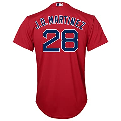 0fb7f3976 J.D. Martinez Boston Red Sox Red Youth Cool Base Alternate Replica Jersey