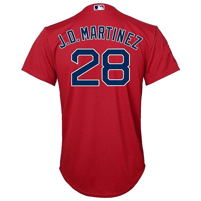 hot sale online 024cc cbd7d Amazon.com: J.D. Martinez Boston Red Sox Red Youth Cool Base ...