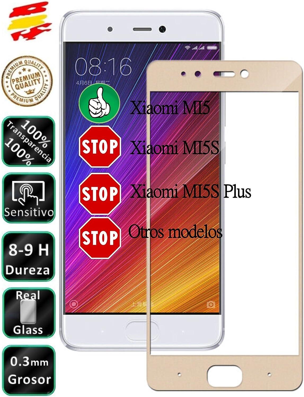 Movilrey Protector para Xiaomi MI5 Dorado Completo 3D Cristal Templado de Pantalla Vidrio Curvo para movil: Amazon.es: Electrónica