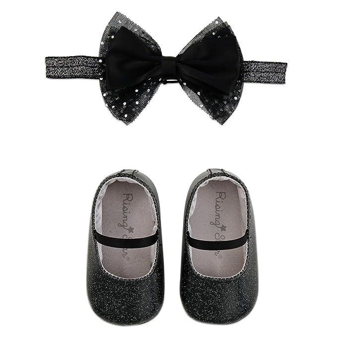 b7256e22f69b Amazon.com: Rising Star Baby Girls' Shoes and Headband Gift Box Set ...