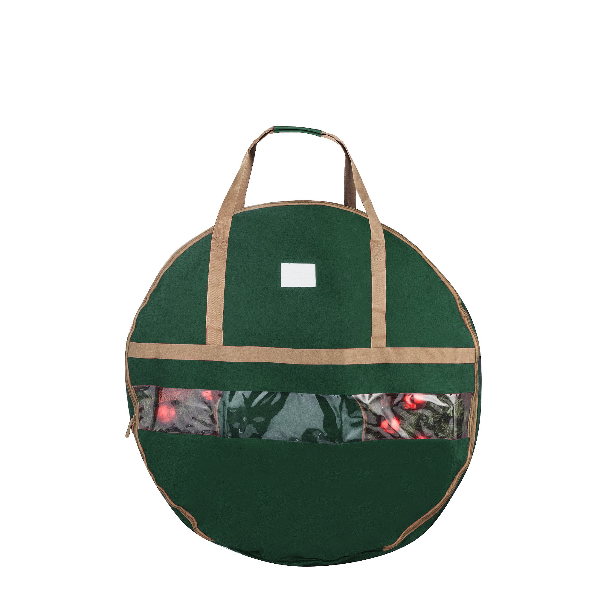 Elf Stor 1555 Ultimate Green Holiday Christmas Storage Bag for 36'' Inch Wreaths, 36 Inch