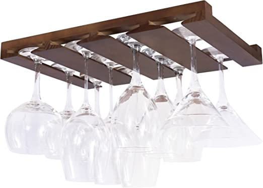 Kitchen Cabinet Wine Glass Rack /& Stackable Under Cabinet Wine Glass Racks