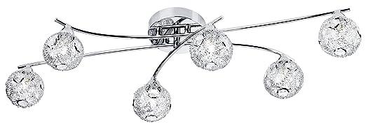 114 opinioni per Paul Neuhaus 50193-17- Lampada a soffitto Jofe, 6 luci con braccio flessibile