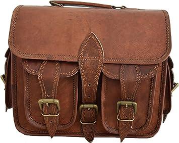 Men/'s Genuine Leather DSLR Camera Bag Messenger Shoulder Bag Cross Body Carry On