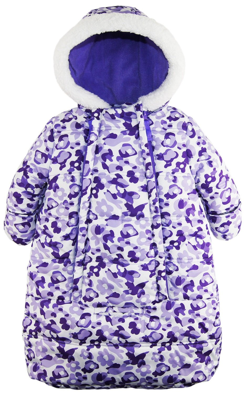 Pink Platinum Baby Girls Snowsuit Carbag Floral Camo Winter Puffer Bunting Pram, Purple, 3-6 Months by Pink Platinum (Image #1)